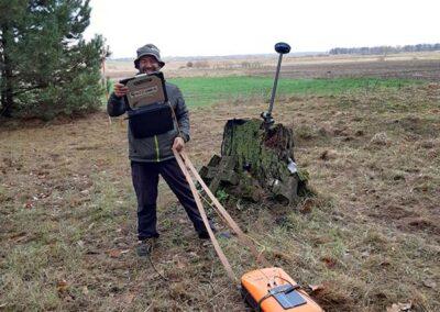 Usługi georadarowe – Urszulin – listopad 2019, poszukiwania mogił żołnierzy Korpusu Ochrony Pogranicza.