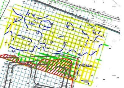 """Usługi georadarowe – """"Kwiecień 2018"""" – Lokalizacja i mapowanie nasypów niekontrolowanych, badania poprzedzające prace budowlane. Budowa hali magazynowej."""