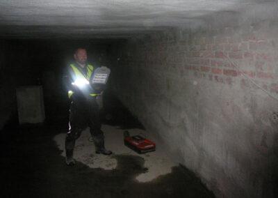 Wrzesień 2015 – badanie wycieku, wilgotności betonu